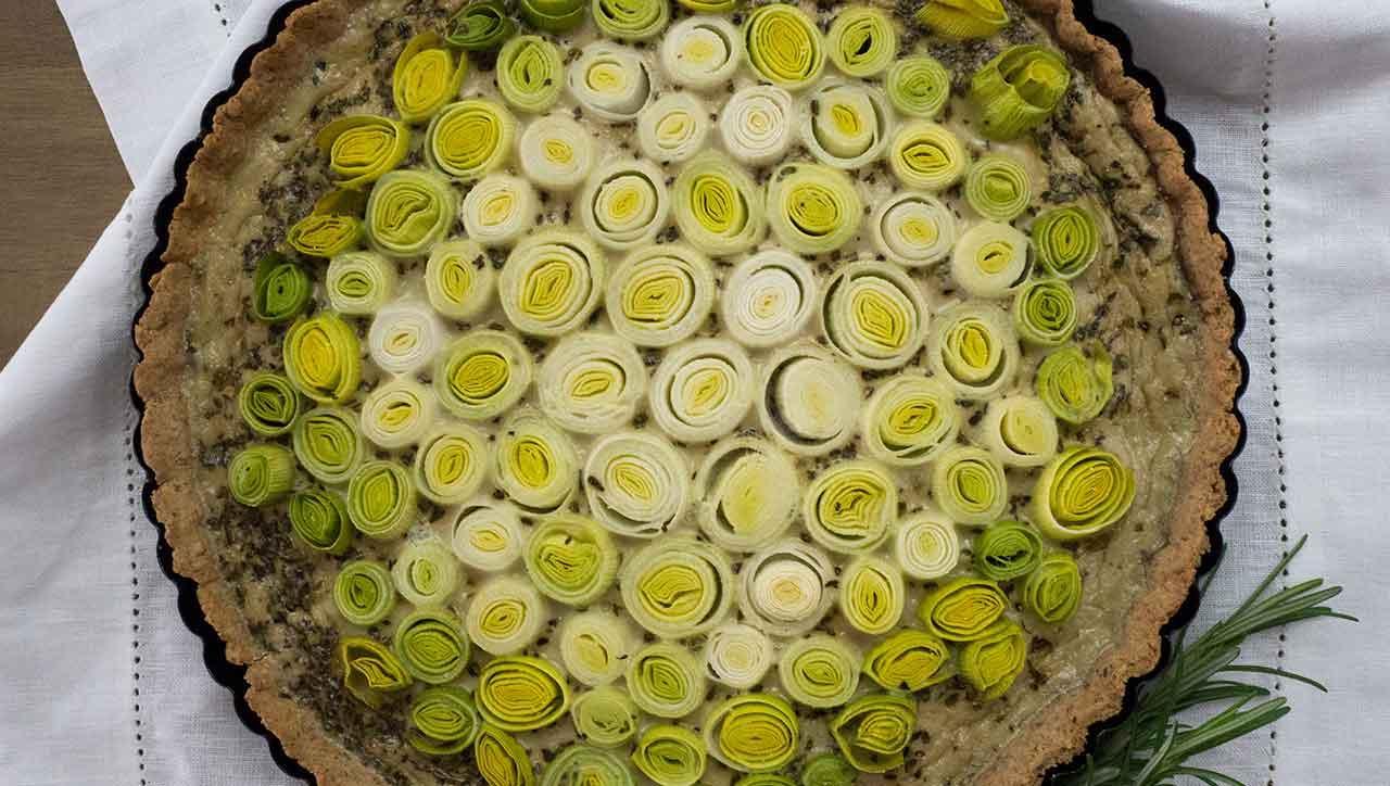 Backen mit Gemüse: Der Lauchkuchen ist ein Genuss.