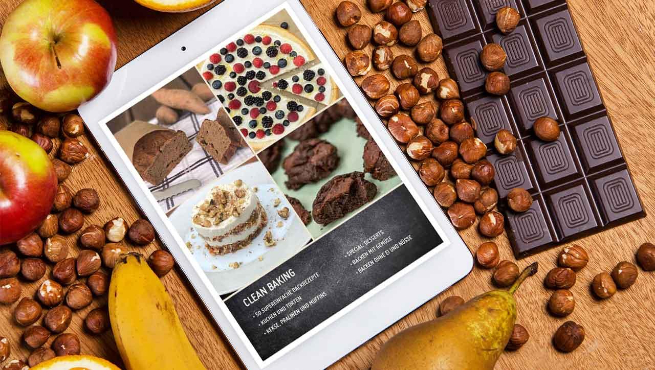 Clean Baking Kochbuch auf dem Ipad