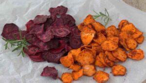 Gemüsechips Ofen
