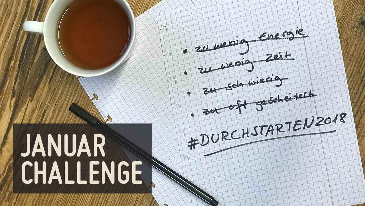 Januar Challenge 2018 – jetzt durchstarten