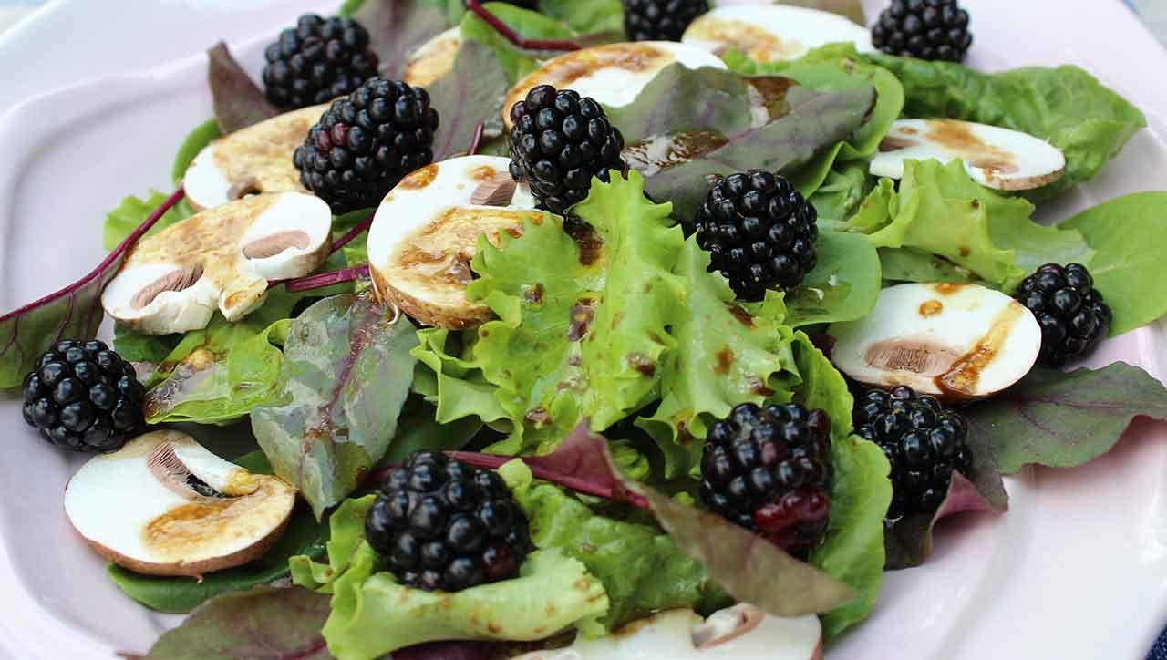 Beeren, Pilze und ein tolles Dressing - Sommersalat deluxe