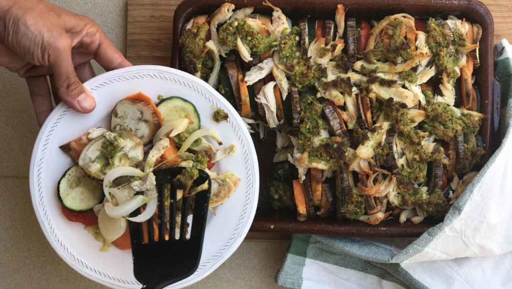 Ratatouille mit Pesto