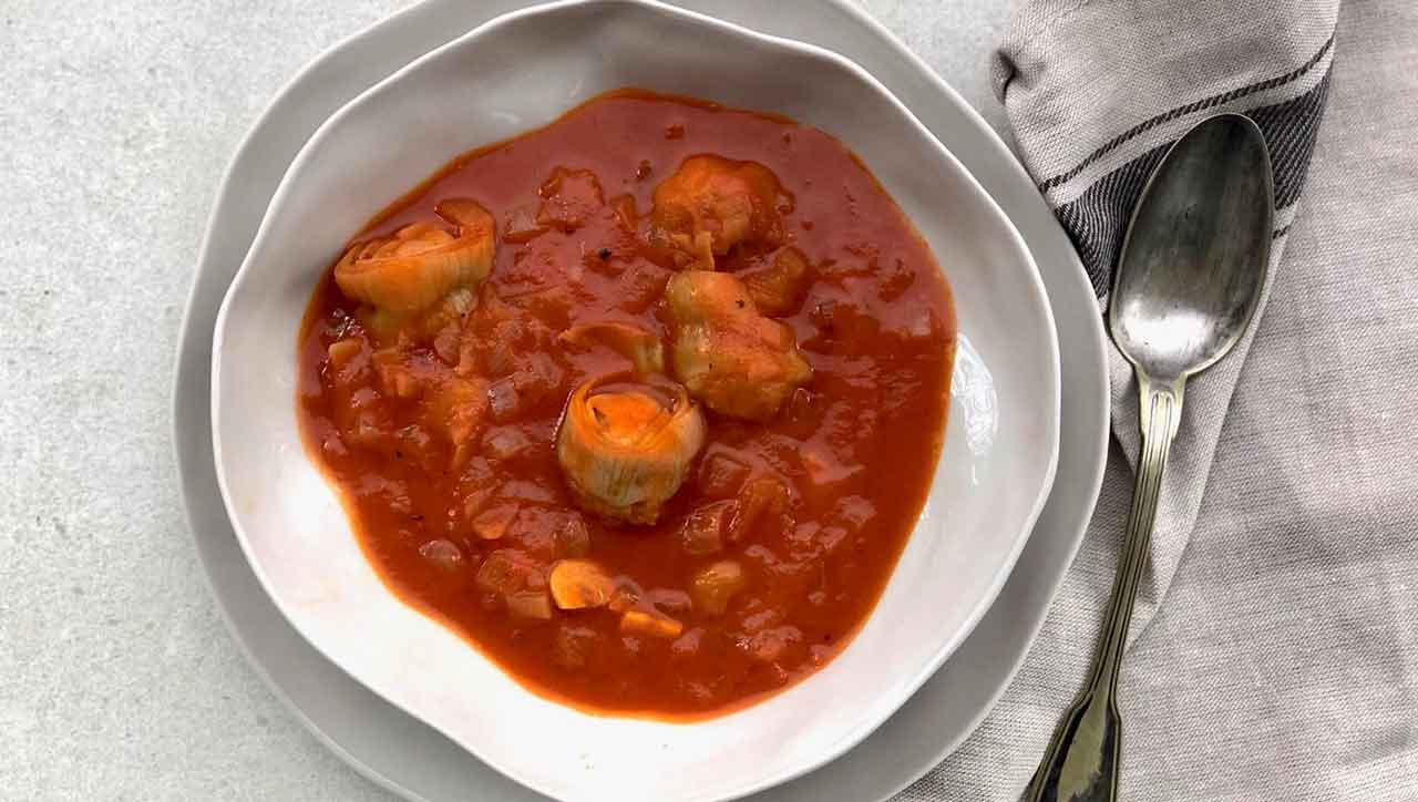 Gulasch ohne Fleisch: Das Paprika Gulasch lässt nichts vermissen