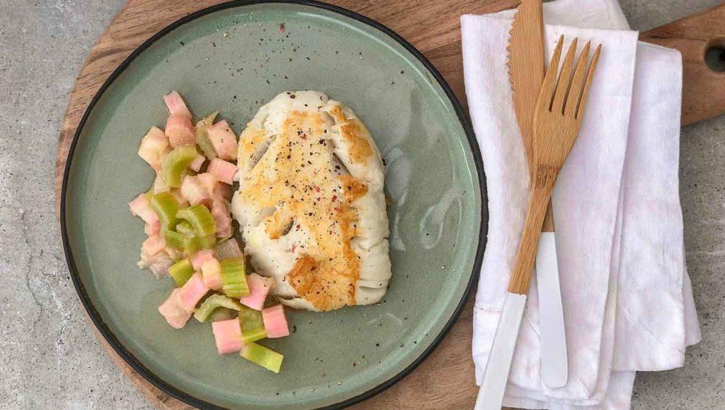 Fisch mit Rhabarber Gemüse