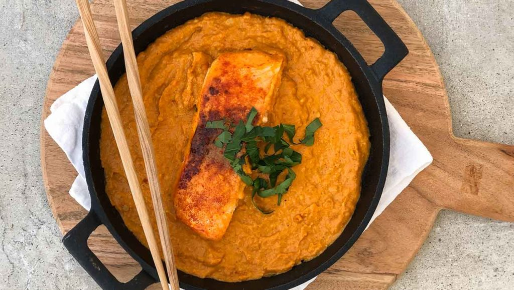 Lachs Curry Rezept