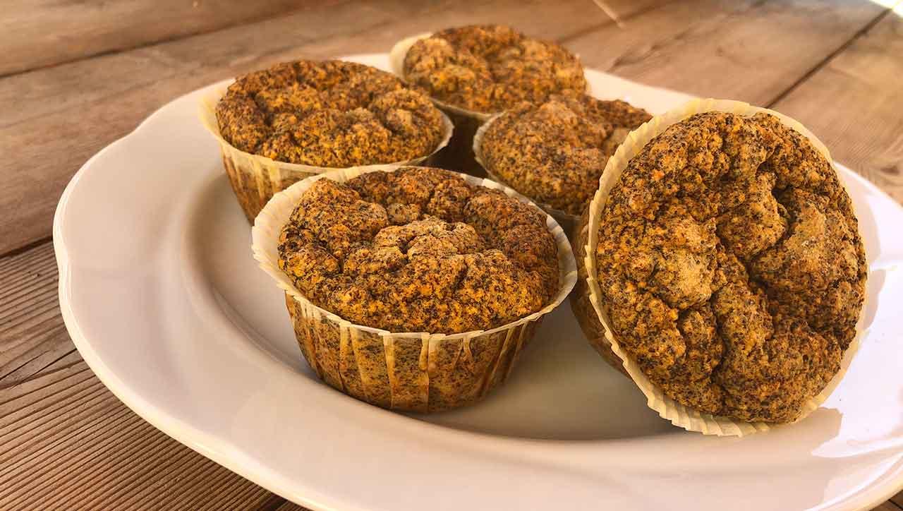 Mohnmuffins auf Karottenbasis: Gesunder Genuss