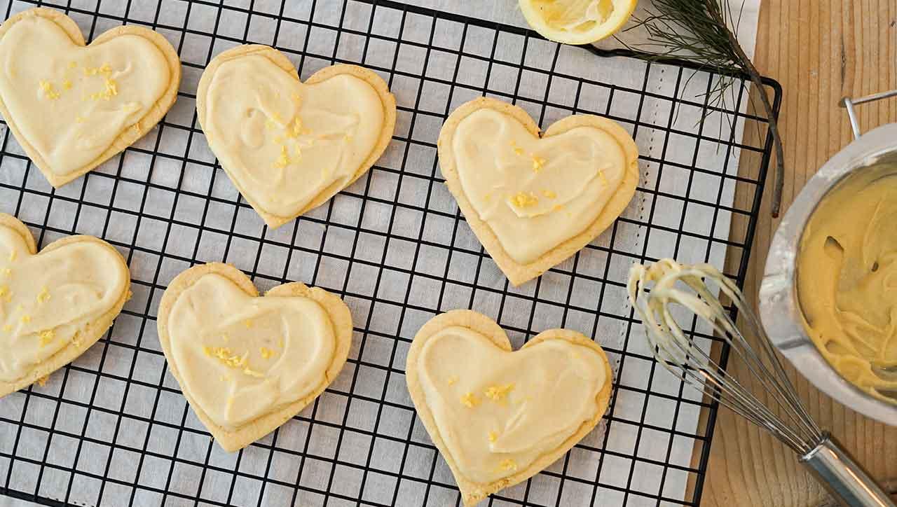 Zitronenherzen für die Weihnachtsbäckerei