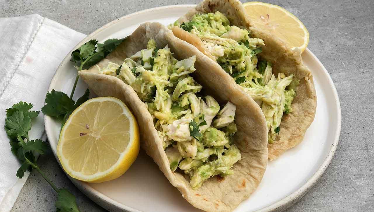 Hühnchen Wraps mit Avocado