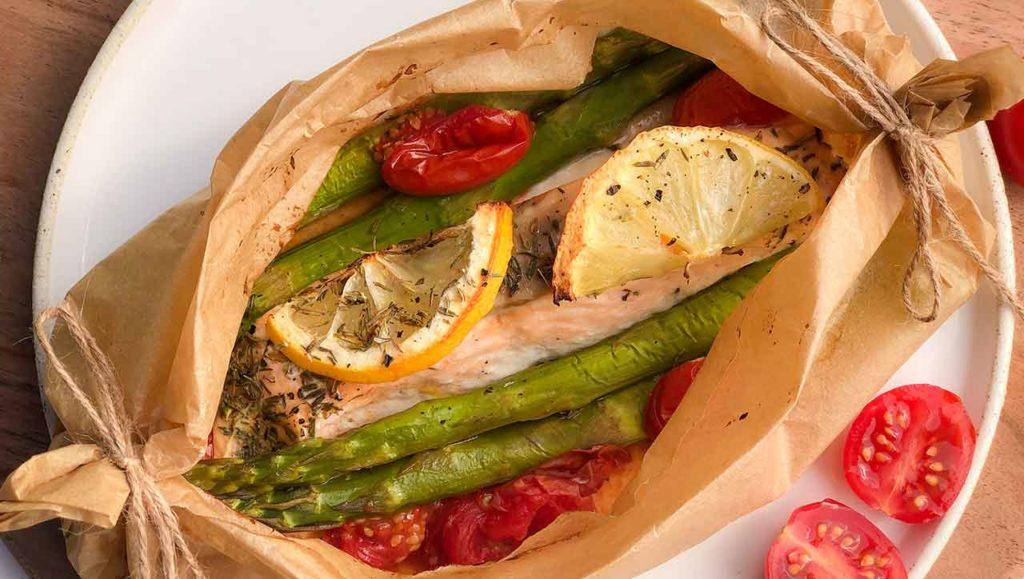 Lachs Spargel aus dem Ofen